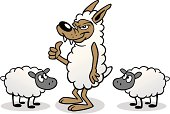 Great illustration of a wolf in sheep's clothing. Perfect for a business illustration. EPS and JPEG files included. Be sure to view my other illustrations, thanks!