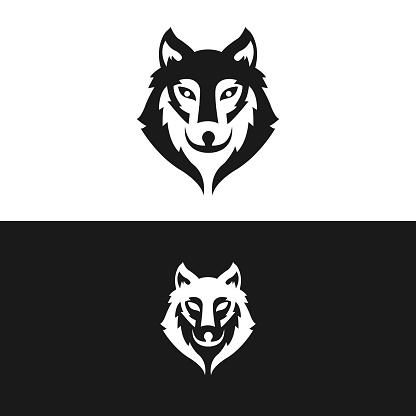 Wolf logo vector illustration icon. Wolf vector