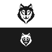 Wolf vector design made in editable vector file.