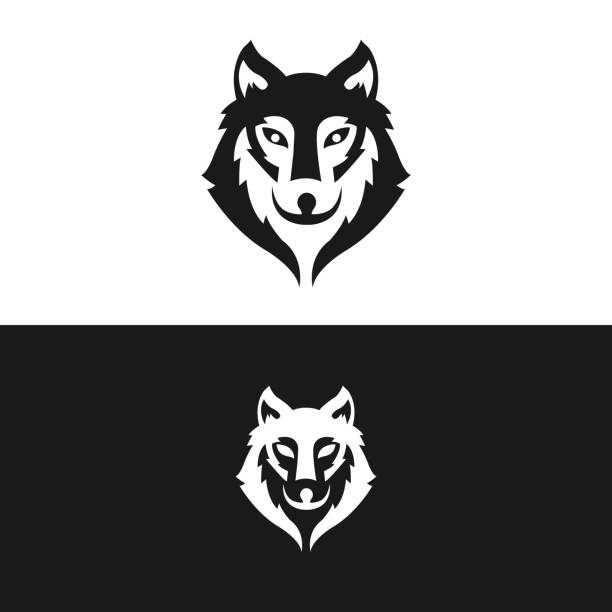 bildbanksillustrationer, clip art samt tecknat material och ikoner med wolf logo vektor illustration ikon. vargvektor - varg