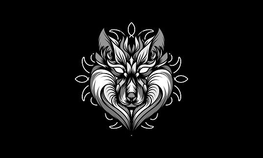 Wolf Mandala Vector Illustration