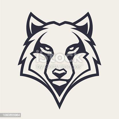 Wolf Mascot Vector Icon