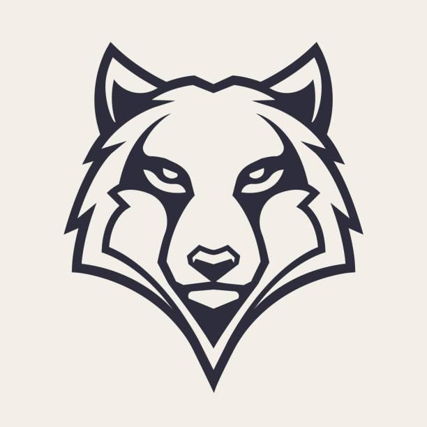 bildbanksillustrationer, clip art samt tecknat material och ikoner med wolf maskot vektor symbol - varg