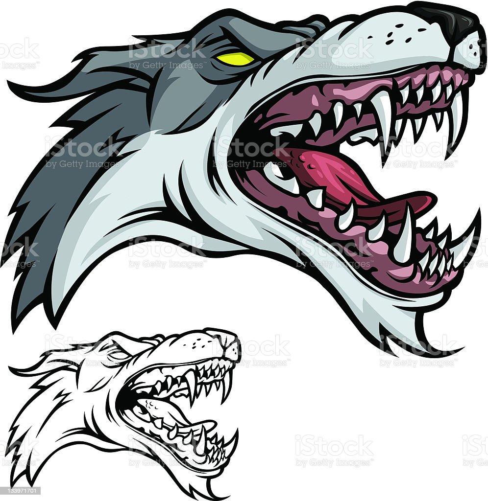 Wolf Mascot vector art illustration