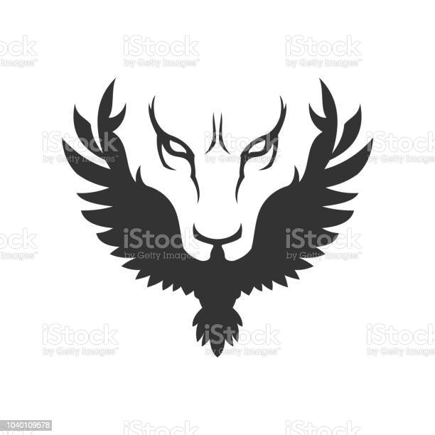 Wolf or lion face and bird icon vector id1040109578?b=1&k=6&m=1040109578&s=612x612&h=zgdfeokygllfrk7nv9ugb02mb0um9slm3danru9hhye=