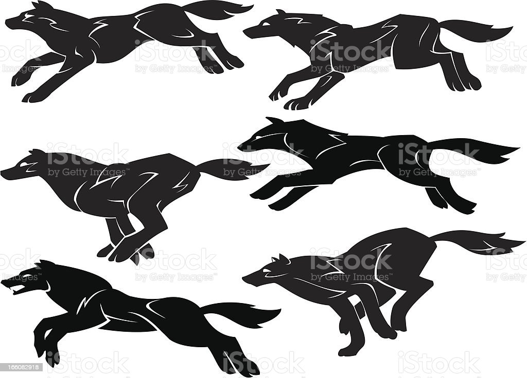 Wolf Pack royalty-free wolf pack stock vector art & more images of animal