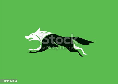 wolf running icon