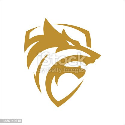 istock wolf shield icon vector. wolf logo. wolf head logo vector 1330149715