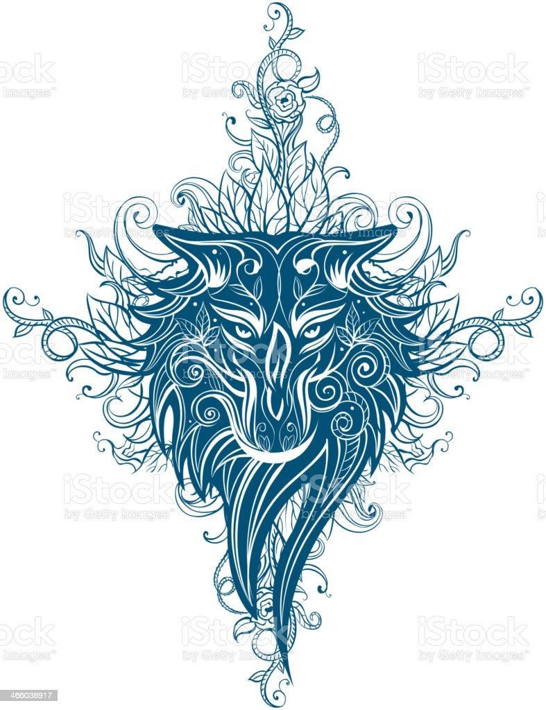 Wilk Tribal Tatuaż Stockowe Grafiki Wektorowe I Więcej