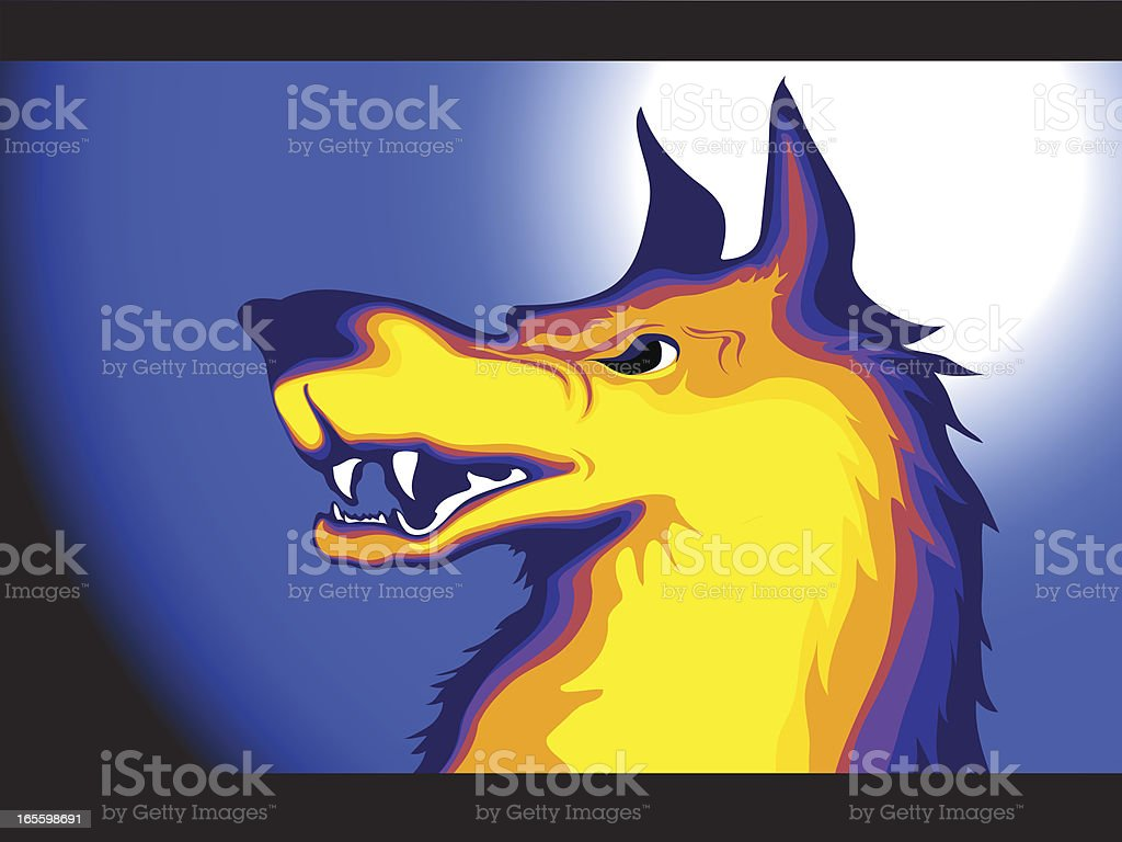 wolf vector art illustration