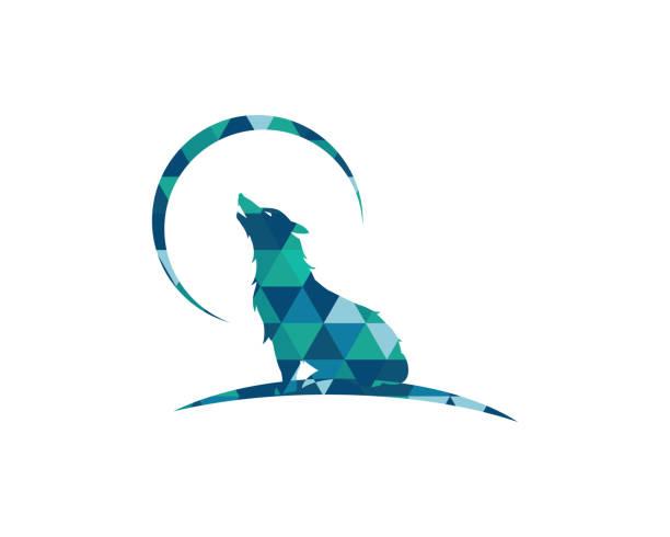 Wolf vector illustration design Wolf Logo Template vector illustration design silhouette of a howling coyote stock illustrations