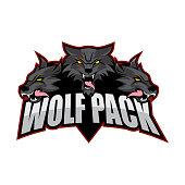 E-sport logo design with wolf theme