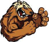 Wolverine Badger Fighting Mascot Body Vector Illustration