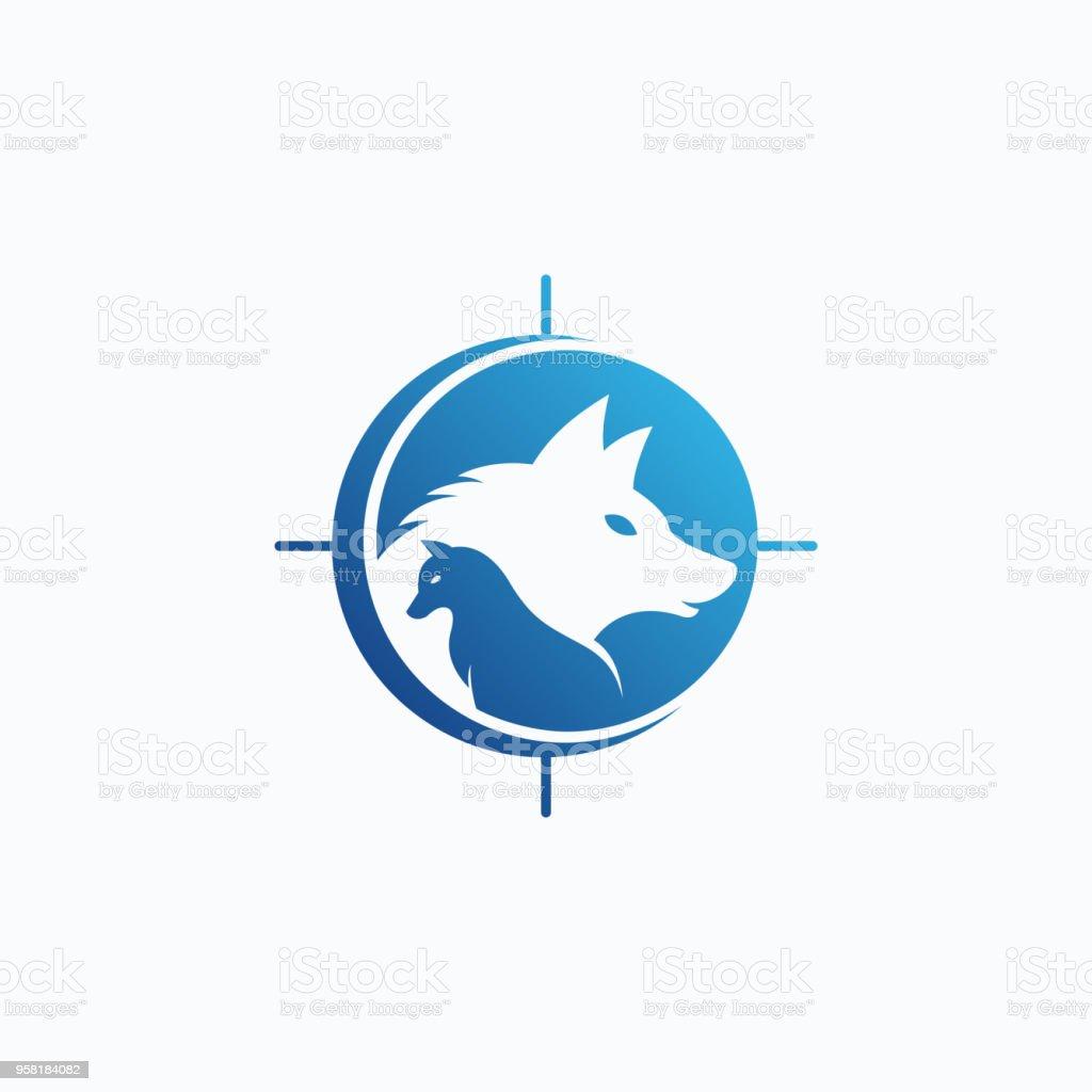 Wolves vector logo design vector art illustration