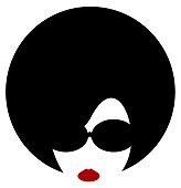 woman afro