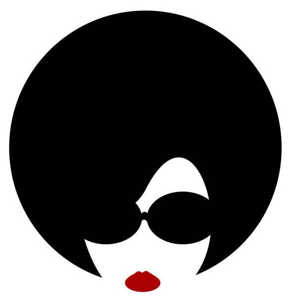 woman afro vector art illustration