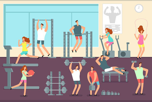 Exercise stock illustrations