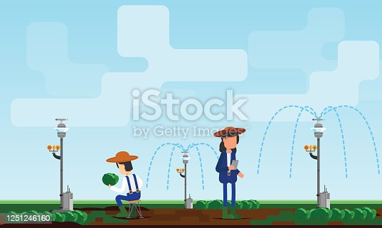 Representation of modern sustainability with advancement in technologies. Vector file