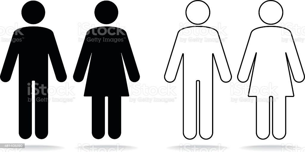 Frau und Mann Symbol – Vektorgrafik