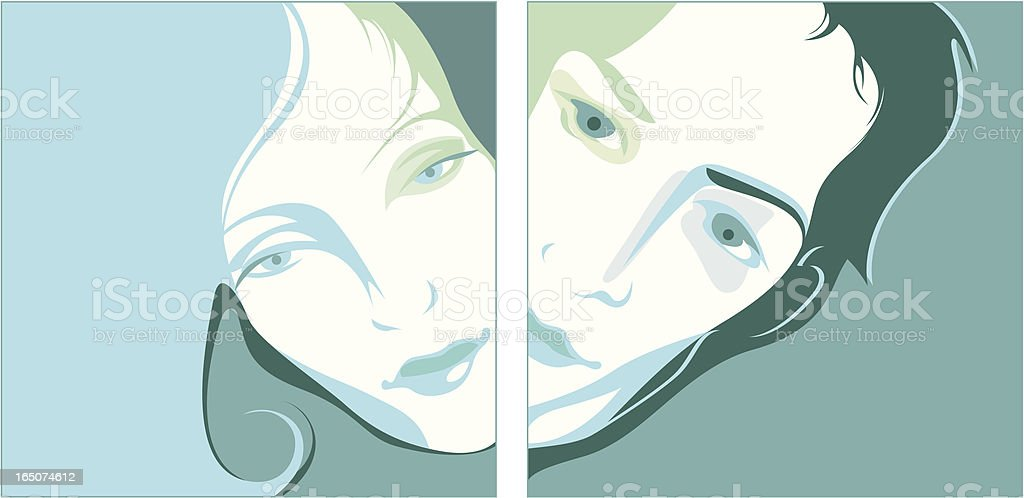 Woman and man. royalty-free stock vector art