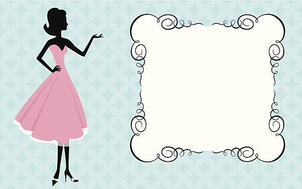 Femme et signer - Illustration vectorielle