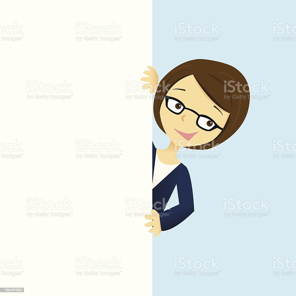 Woman and White Space royalty-free stock vector art