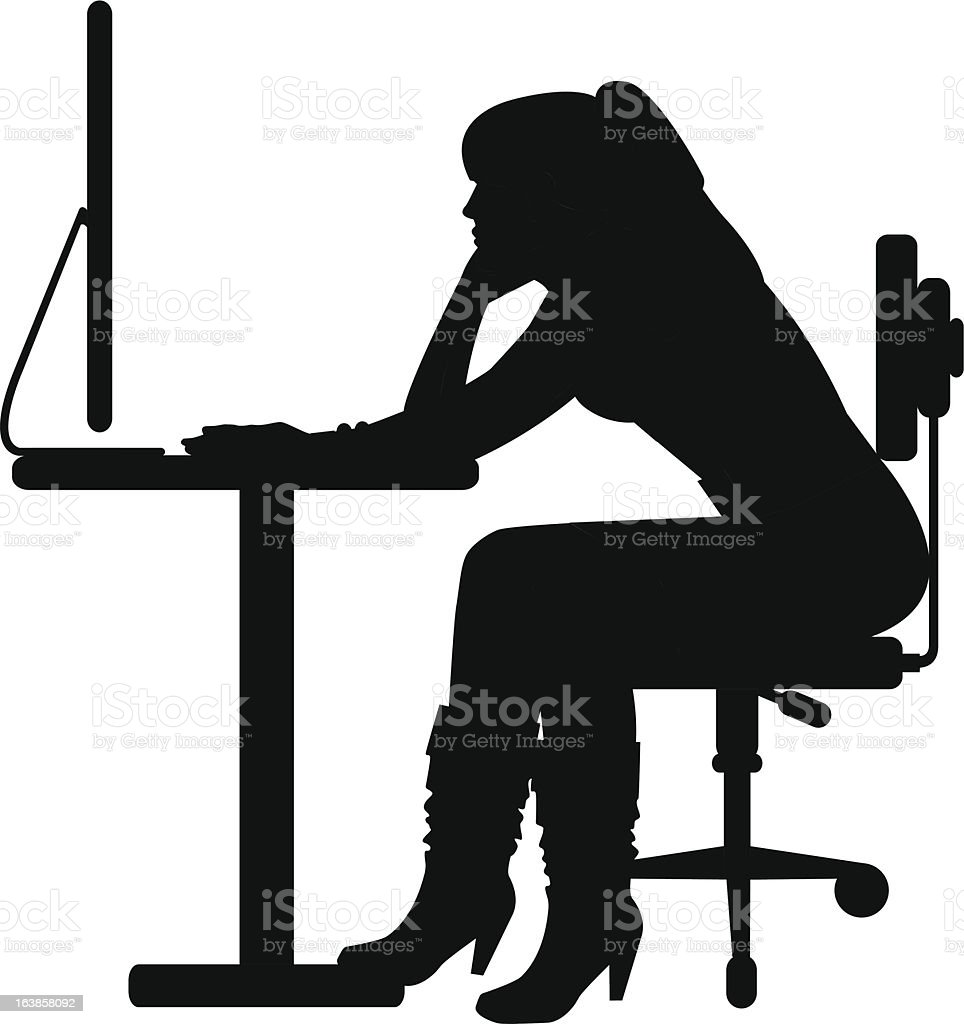 Woman at Work royalty-free woman at work stock vector art & more images of adult