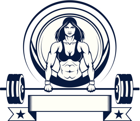 woman athlete with a barbell