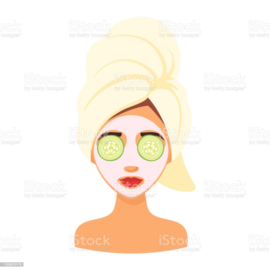 Woman Avatar Getting Spa Treatment Stock Illustration Download
