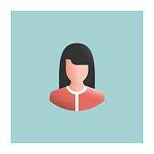Woman Avatar Flat Design