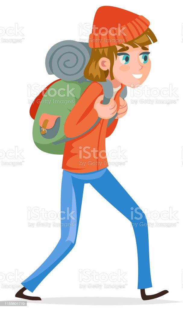 Dos Randonnée Femme Routard Vacances Voyageur Active Marchant À Sac dBoxWrCe