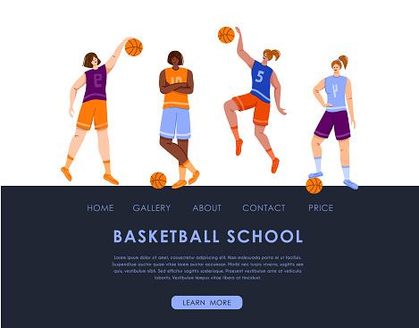 woman basketball player sport concept