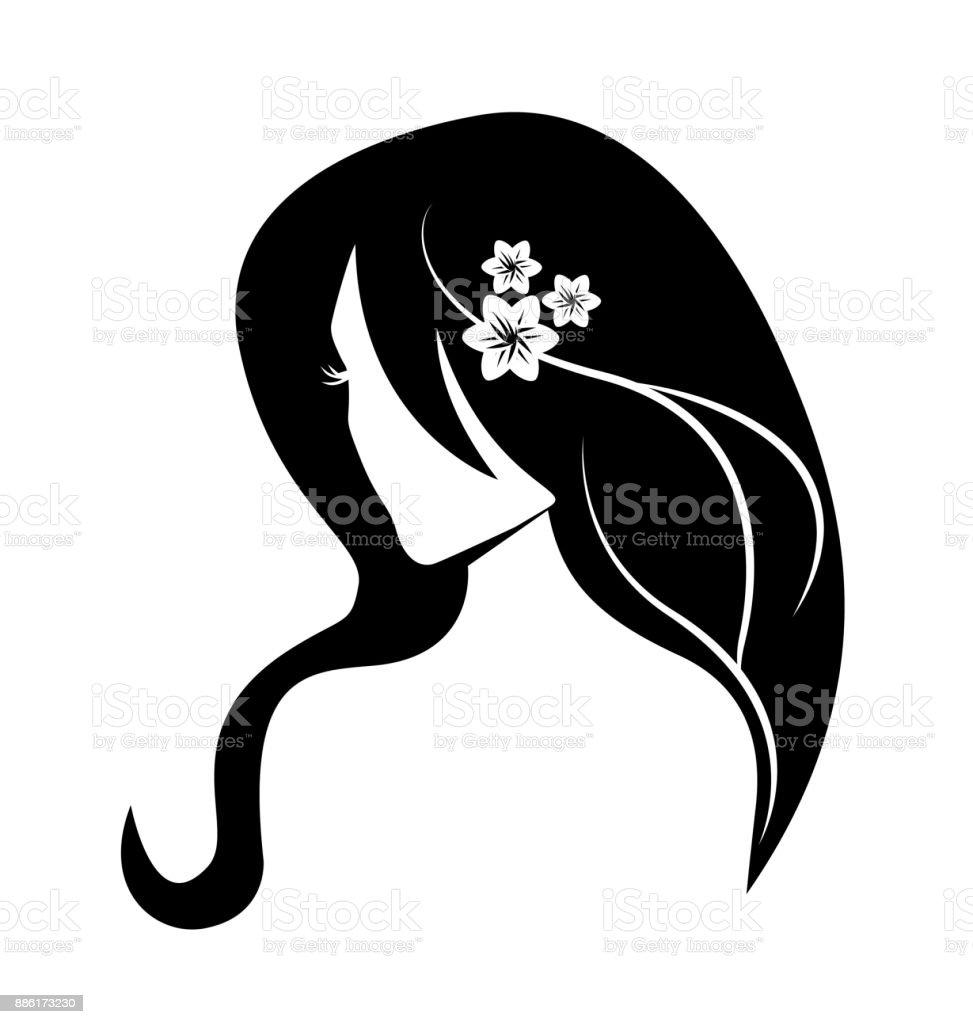 Ilustración De Vector De Silueta De Mujer Belleza Cara