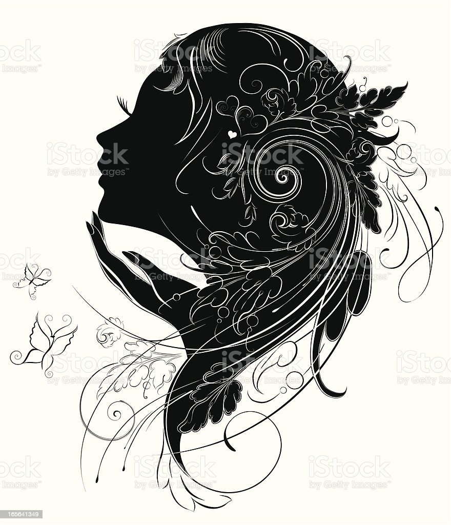 Woman  beauty. royalty-free stock vector art