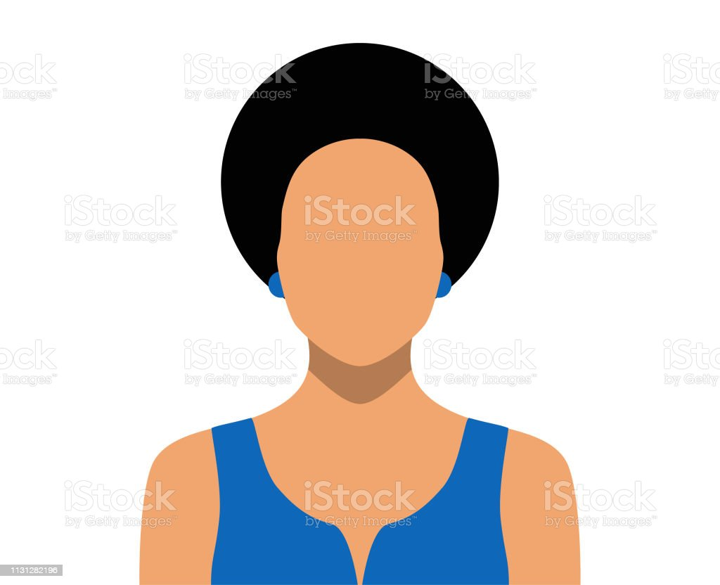 Woman Blank Face Icon Stock Illustration - Download Image