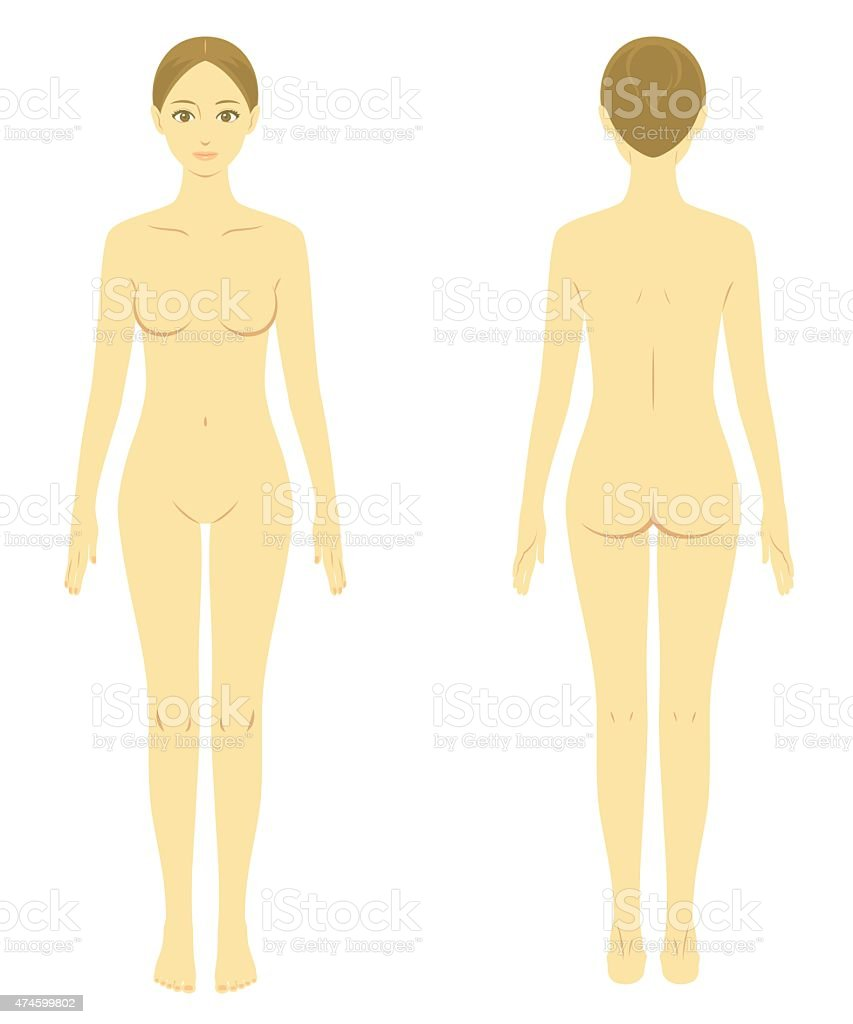 woman body model naked vector art illustration