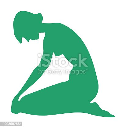 Woman Bowing Head