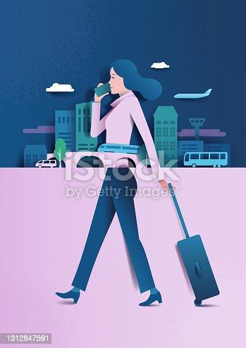 istock woman business trip 1312847591