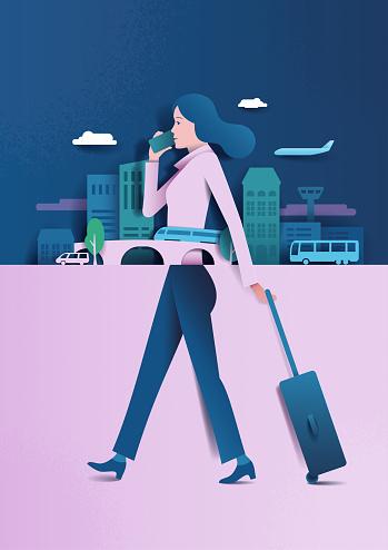 woman business trip