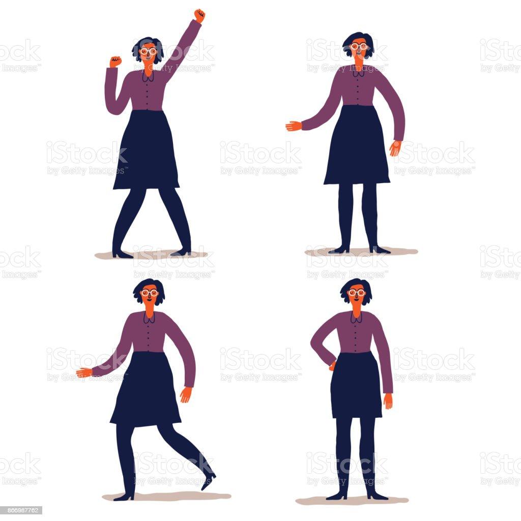 Frau-Zeichensatz – Vektorgrafik