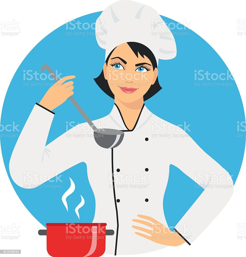 royalty free female chef clip art vector images illustrations rh istockphoto com female chef clipart free female pastry chef clipart