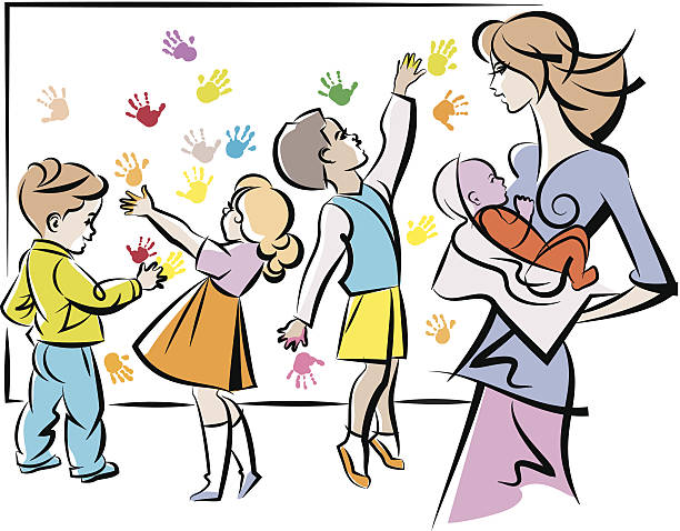 Best Child Care Worker Illustrations, Royalty-Free Vector ...