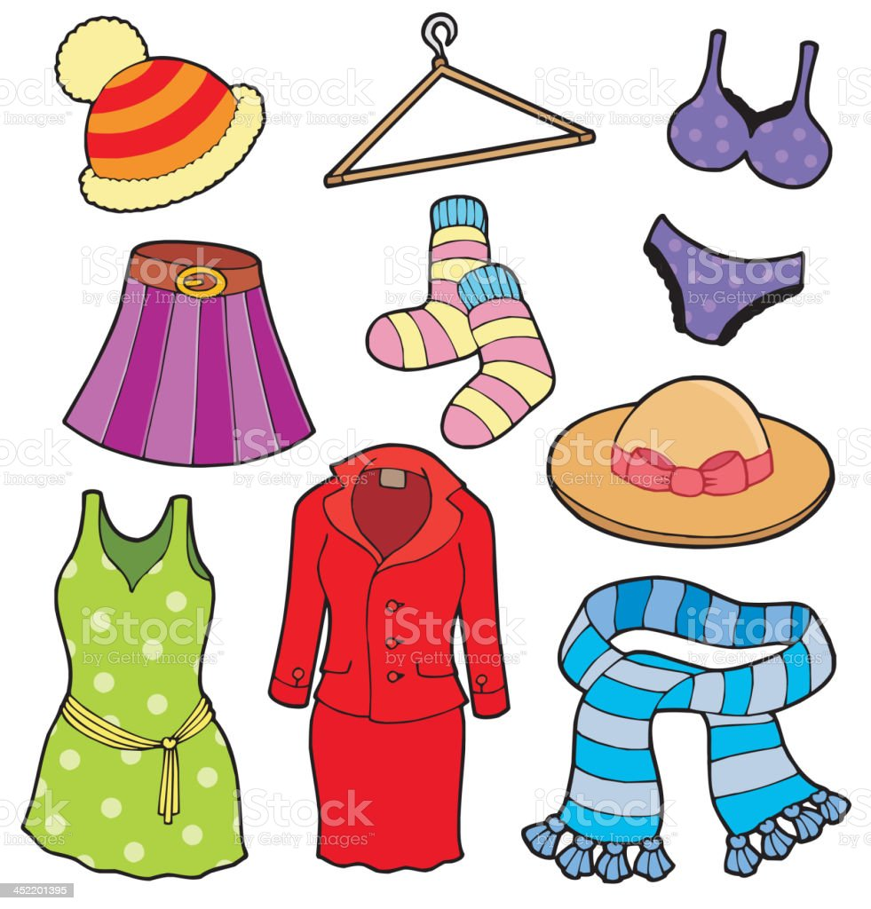 Woman clothes collection royalty-free stock vector art