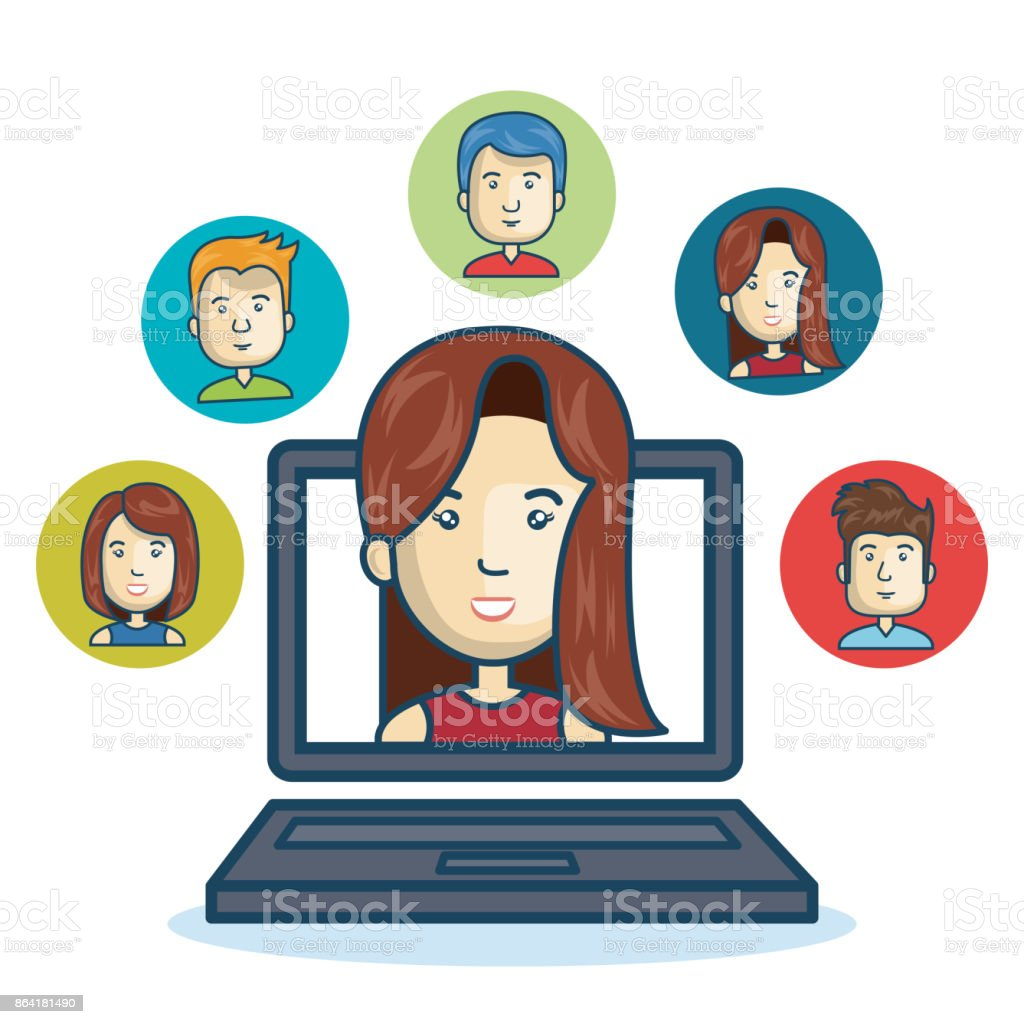 woman community online smartphone design royalty-free woman community online smartphone design stock vector art & more images of adult