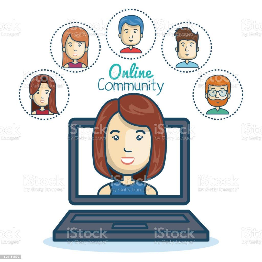 woman community online smartphone design royalty-free woman community online smartphone design stock vector art & more images of adult