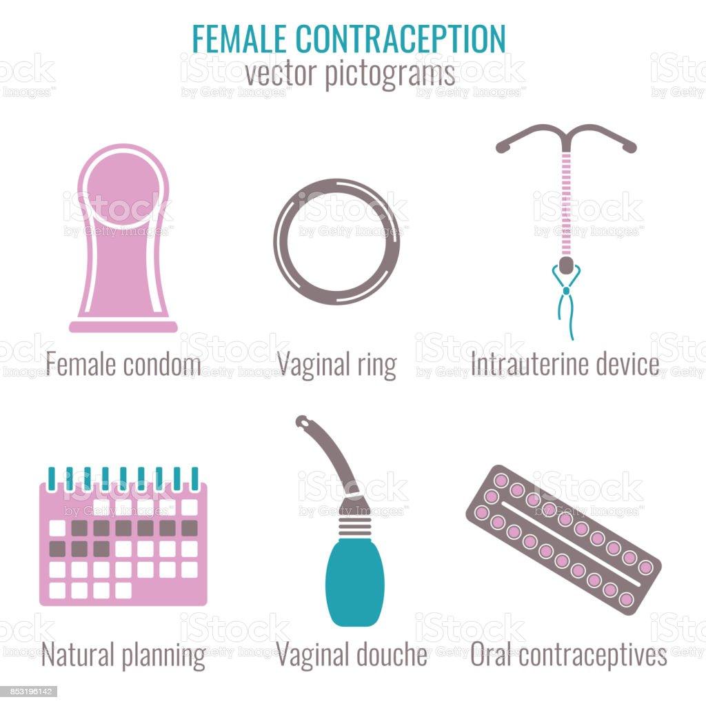 女性避妊アイコン ベクターアートイラスト