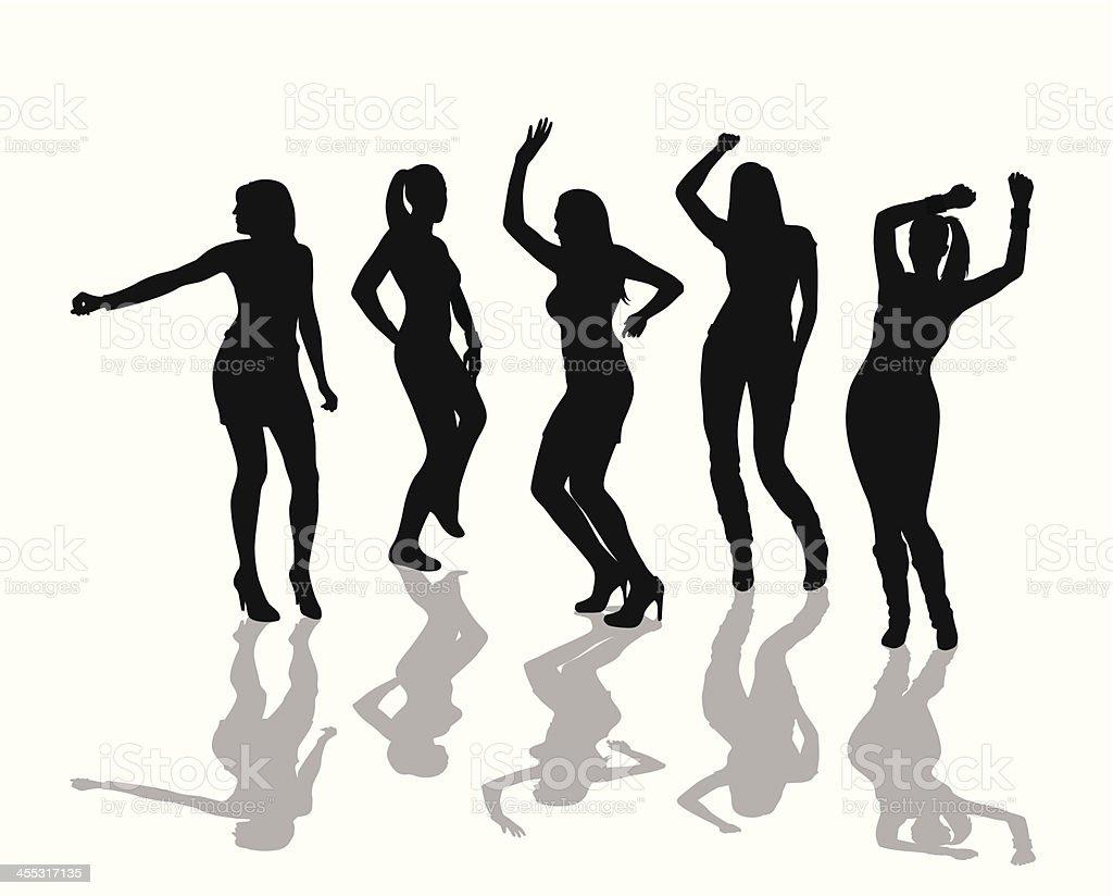 WomanDancing – Vektorgrafik