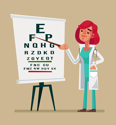 Optometrist stock illustrations