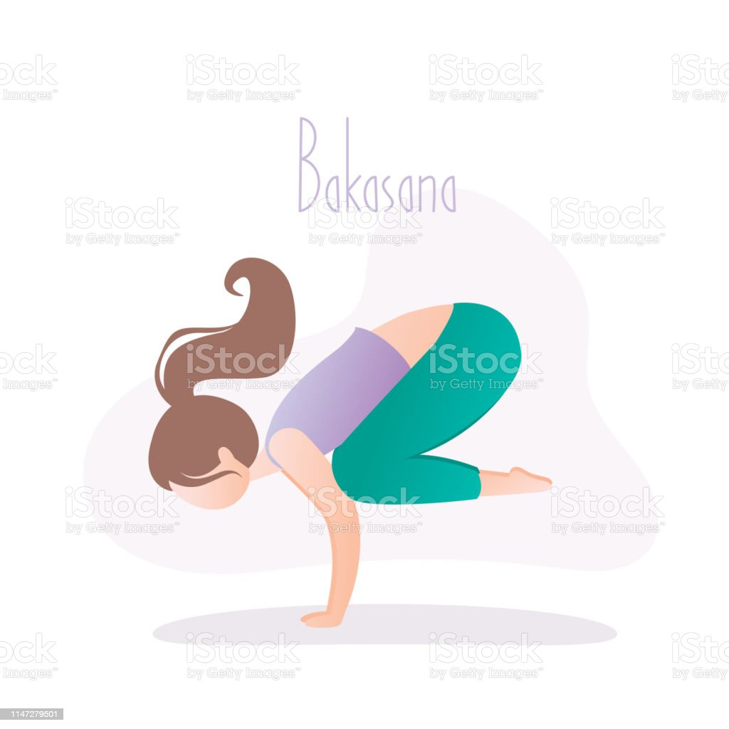 Frau Die Yogapose Crow Pose Oder Bakasana Asana In Hatha Yoga ...