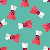 woman dress flat icon,eps10 seamless pattern background